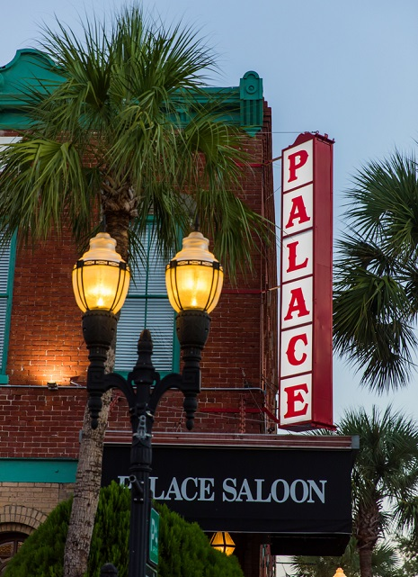 exterior sign at the palace saloon