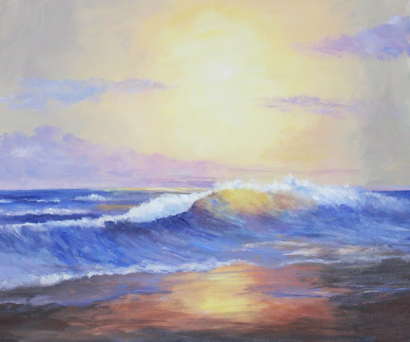 Art Work Painting Of The Beach At Dawn