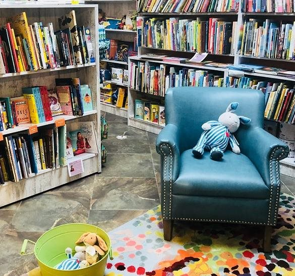 A kids reading corner in the store